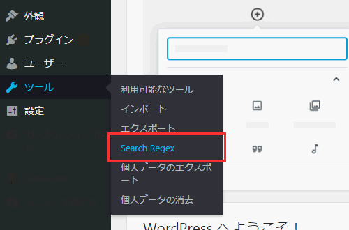 Search Regexを選択